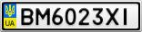 Номерной знак - BM6023XI