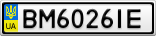Номерной знак - BM6026IE
