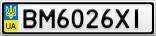 Номерной знак - BM6026XI