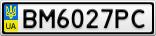 Номерной знак - BM6027PC
