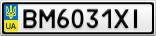 Номерной знак - BM6031XI