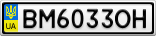 Номерной знак - BM6033OH