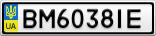 Номерной знак - BM6038IE