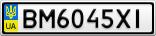 Номерной знак - BM6045XI