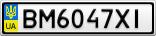 Номерной знак - BM6047XI