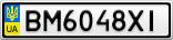 Номерной знак - BM6048XI