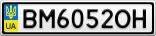 Номерной знак - BM6052OH