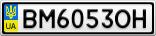 Номерной знак - BM6053OH