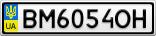 Номерной знак - BM6054OH