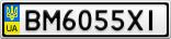 Номерной знак - BM6055XI