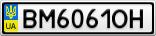 Номерной знак - BM6061OH