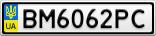 Номерной знак - BM6062PC