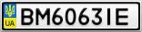 Номерной знак - BM6063IE