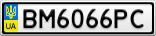 Номерной знак - BM6066PC