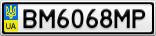 Номерной знак - BM6068MP