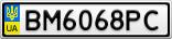 Номерной знак - BM6068PC