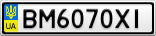 Номерной знак - BM6070XI