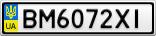 Номерной знак - BM6072XI