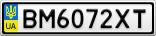 Номерной знак - BM6072XT