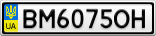Номерной знак - BM6075OH