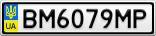 Номерной знак - BM6079MP
