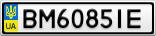 Номерной знак - BM6085IE