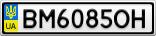 Номерной знак - BM6085OH