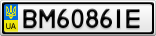 Номерной знак - BM6086IE