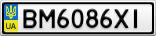 Номерной знак - BM6086XI