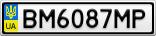 Номерной знак - BM6087MP