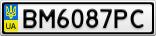 Номерной знак - BM6087PC