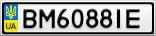 Номерной знак - BM6088IE
