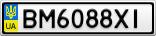 Номерной знак - BM6088XI