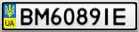 Номерной знак - BM6089IE