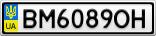 Номерной знак - BM6089OH