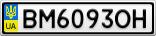 Номерной знак - BM6093OH