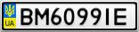 Номерной знак - BM6099IE