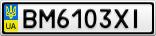 Номерной знак - BM6103XI