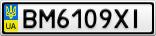 Номерной знак - BM6109XI