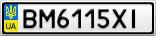Номерной знак - BM6115XI