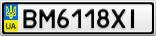 Номерной знак - BM6118XI