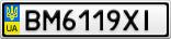 Номерной знак - BM6119XI