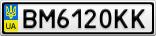 Номерной знак - BM6120KK
