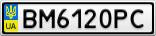 Номерной знак - BM6120PC
