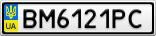 Номерной знак - BM6121PC