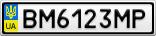 Номерной знак - BM6123MP