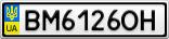 Номерной знак - BM6126OH