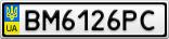 Номерной знак - BM6126PC