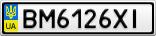 Номерной знак - BM6126XI