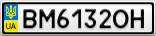 Номерной знак - BM6132OH